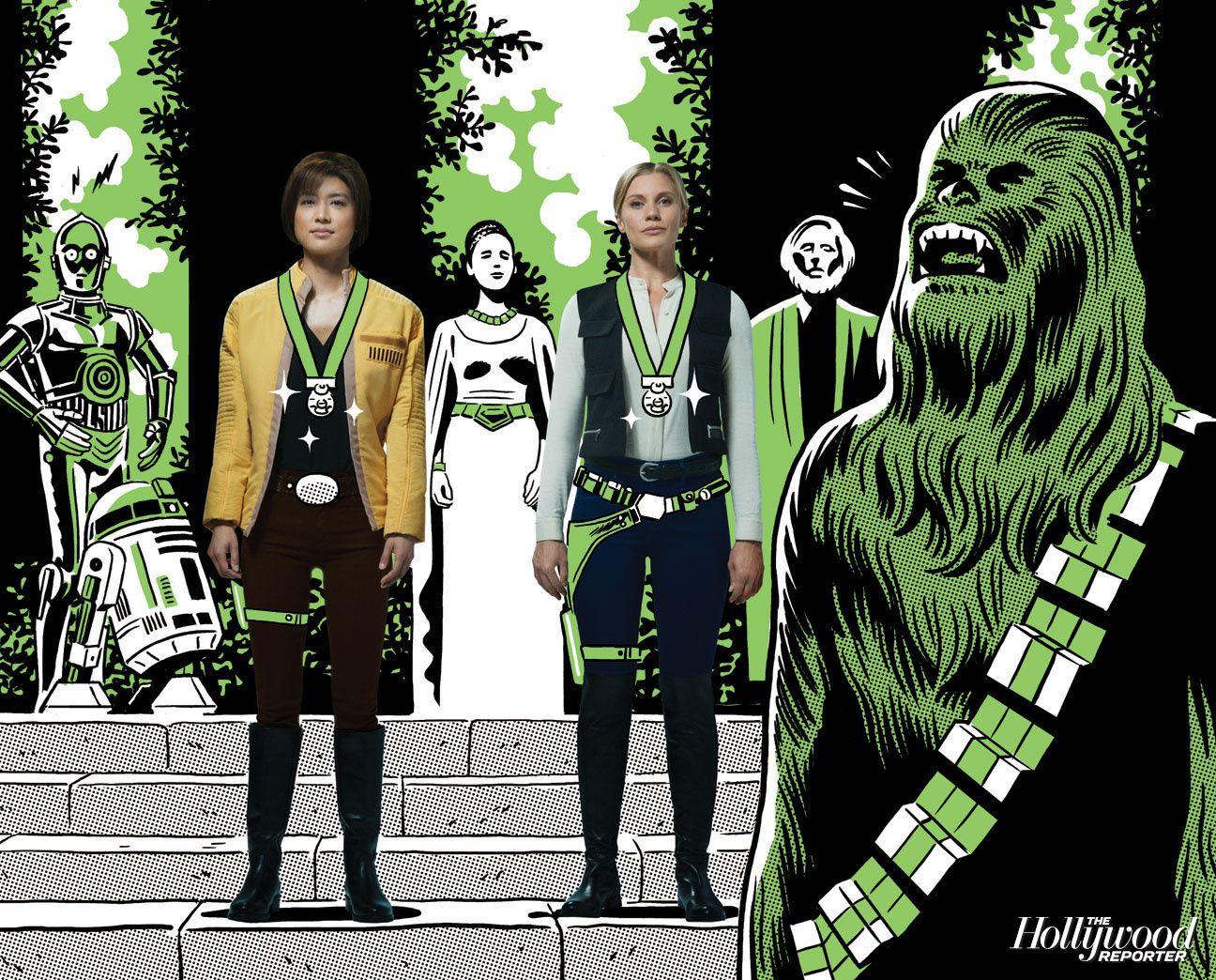 Garce Park et Katee Sachkoff version Star Wars - © THR