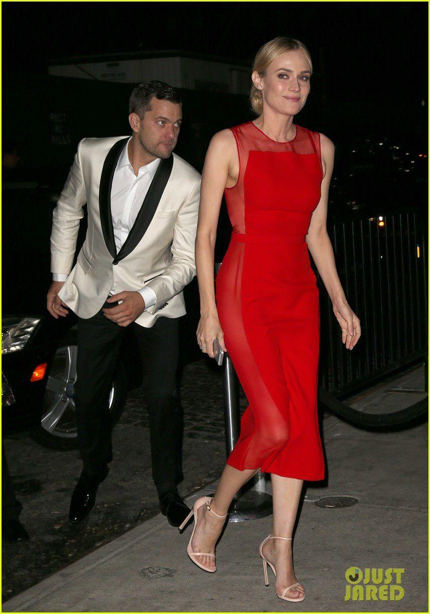 Diane Kruger et Joshua Jackson arrivent à la soirée du MET