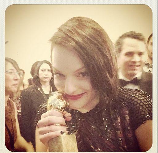Elisabeth et son Golden - © Golden Globes/Instagram