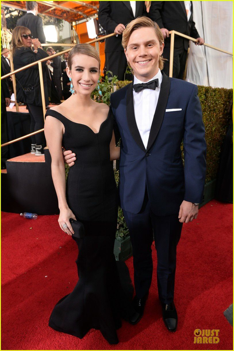 Emma Roberts et son fiancé Evan Peters - © Getty/ Just Jared