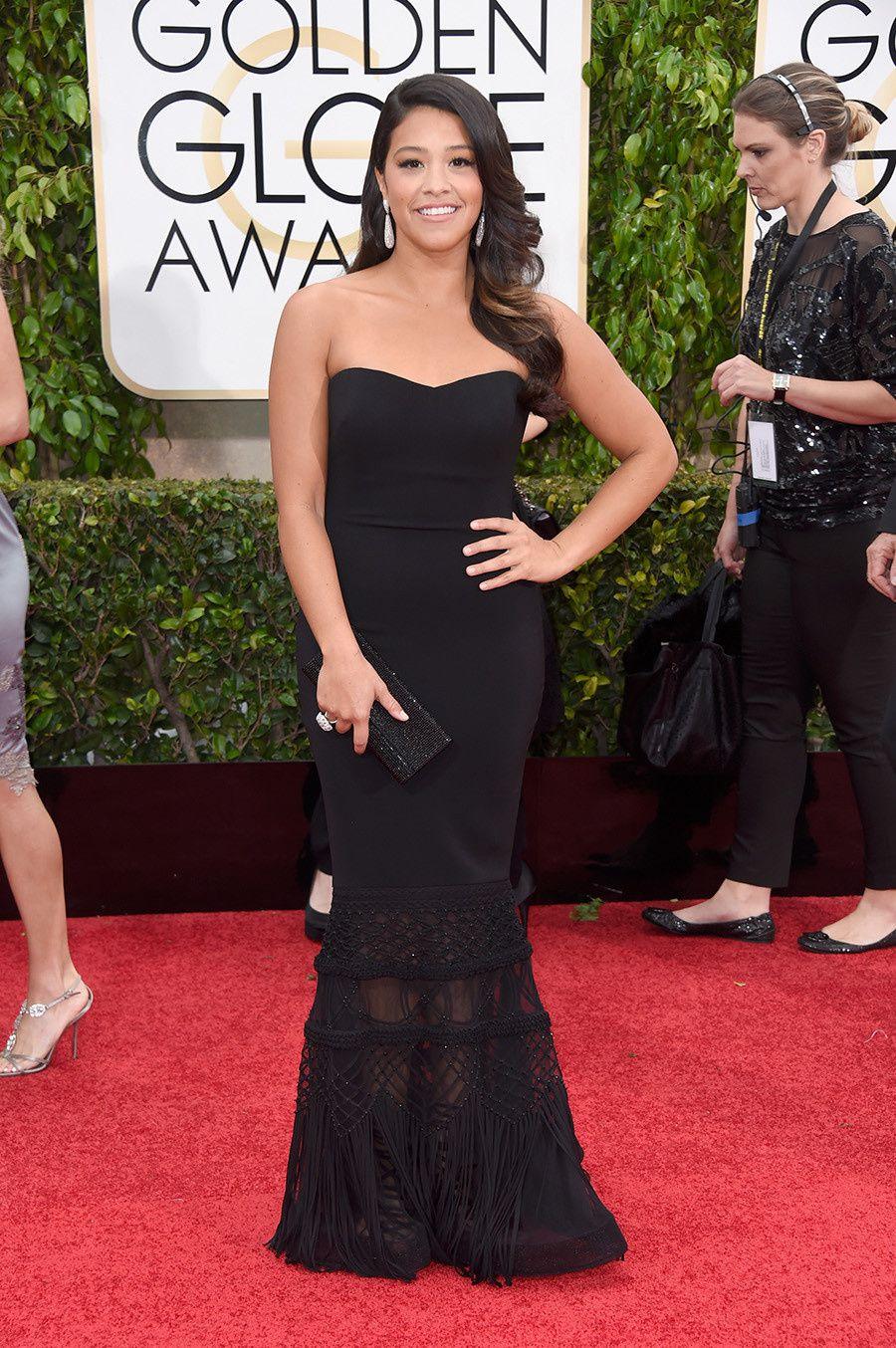 Nouvelle venue et pourtant grande gagnante de la soirée, Gina Rodriguez de Jane The Virgin - © Getty