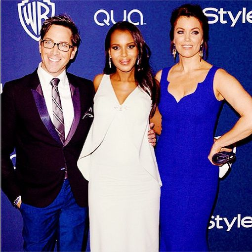 Kerry Washington avec Dan Bucatinsky et Bellamy Young - © Kerry Washington/Instagram