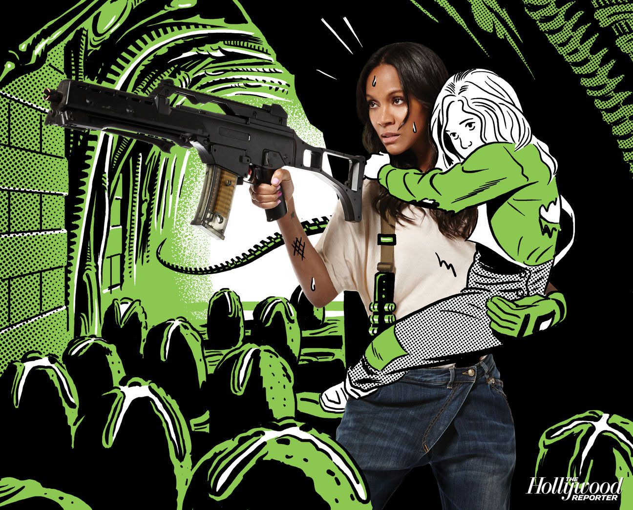 Zoe Saldana est Ripley ! - © THR