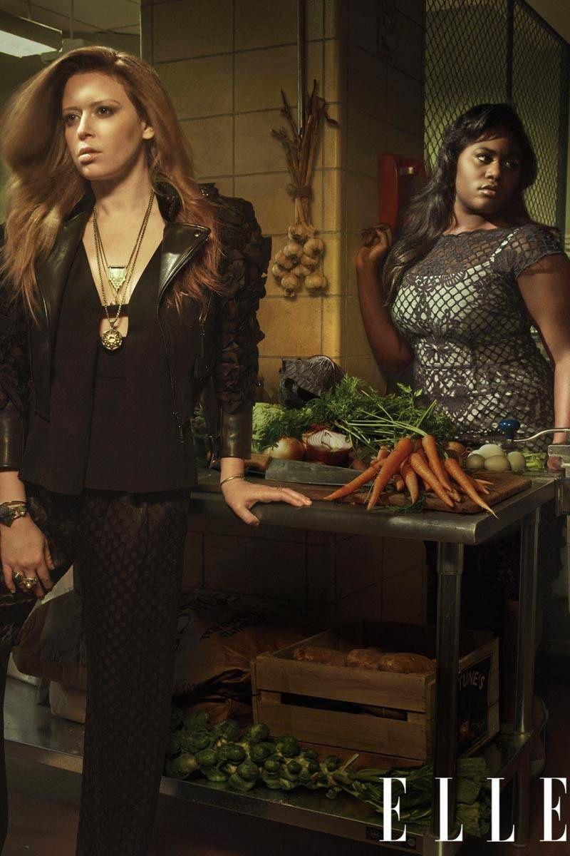 Nicky et Taystee en cuisine - © Mark Seliger/Elle