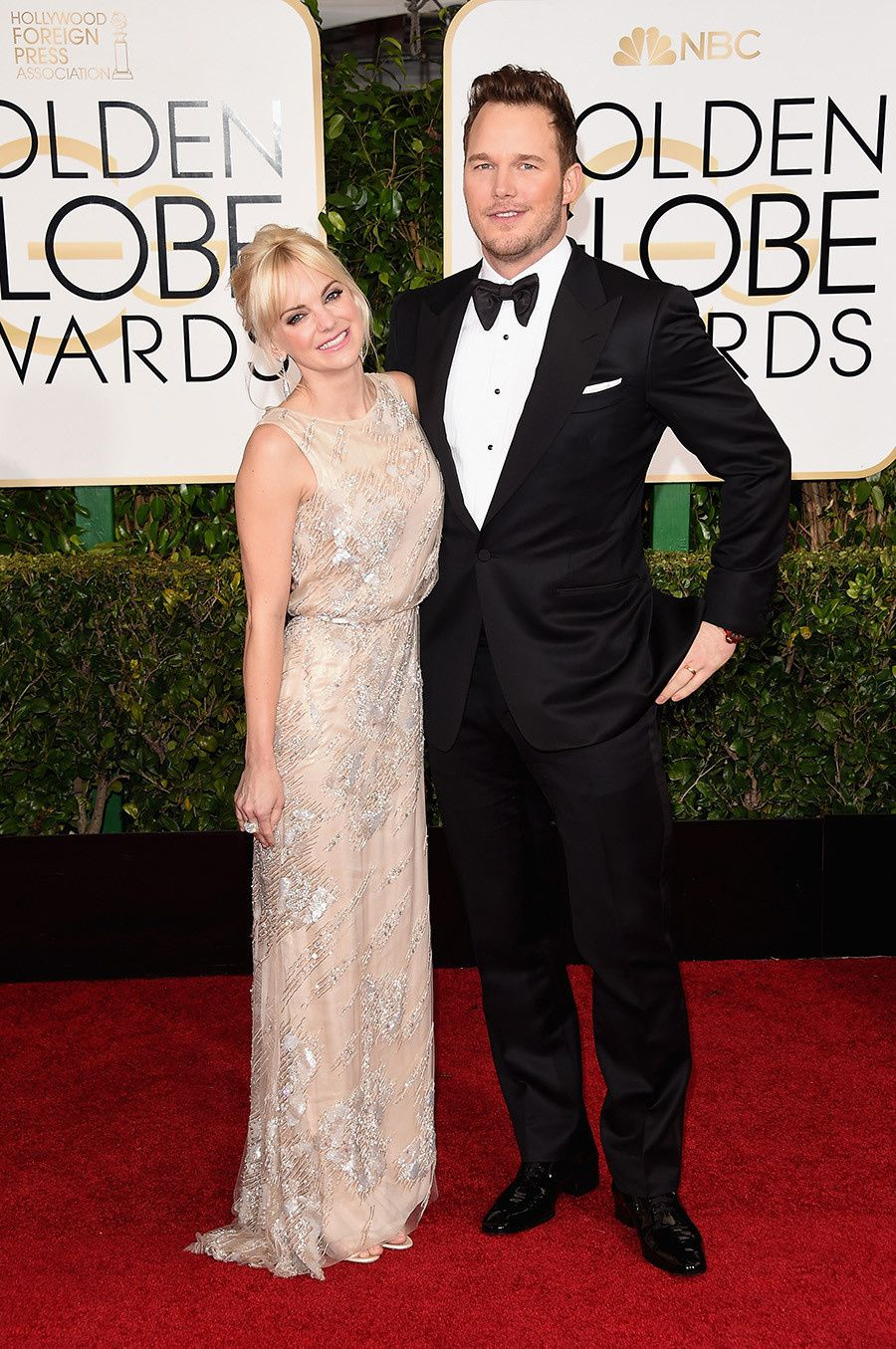 Anna Faris et son mari Chris Pratt - © Getty