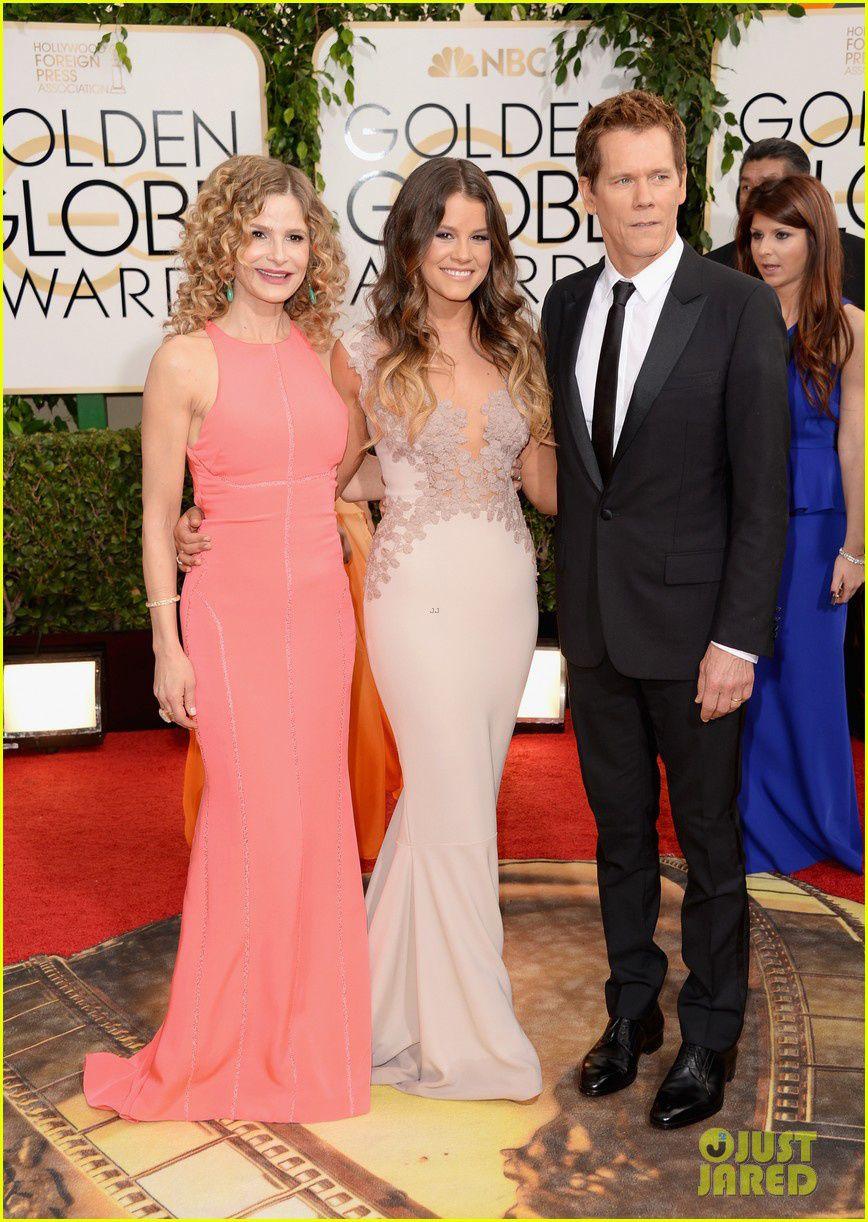 Kyra Sedwick et Kevin Bacon sont venus présenter la Miss Golden Globes de l'année, leur fille Sosie - © Getty/Just Jared