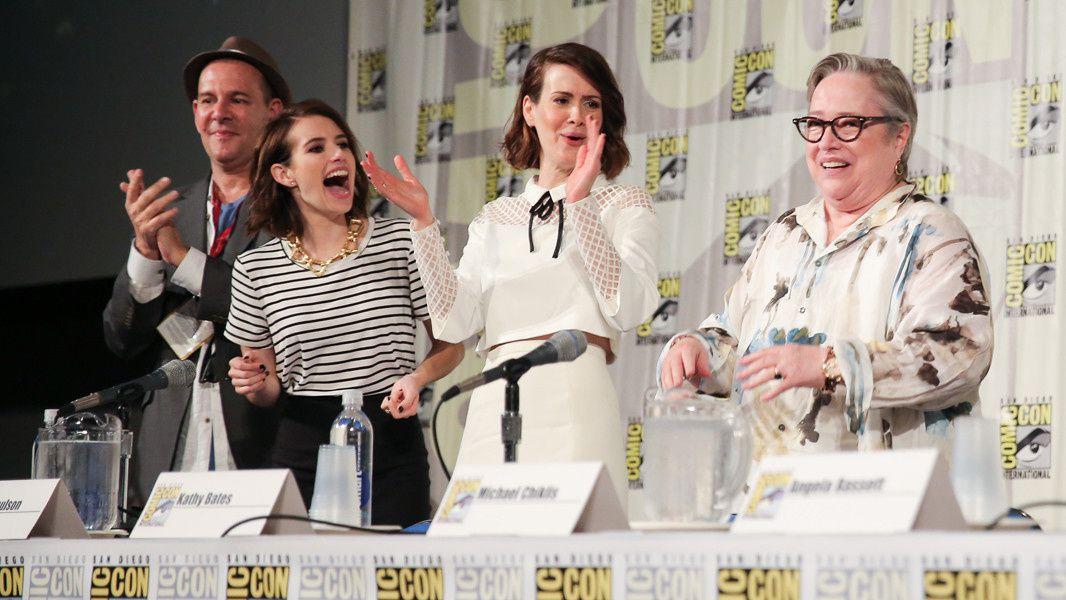 Emma Roberts, Sarah Paulson et Kathy Bates pour American Horror Freakshow  - © Getty