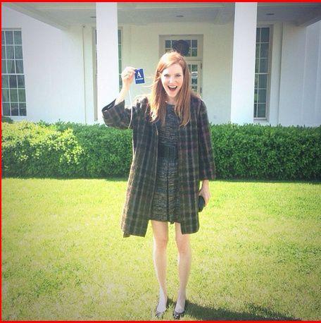 Darby Stranchfield ravie de faire le tour de la Maison Blanche - © Instagram